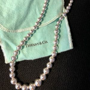 Tiffany sterling silver Graduated Ball Necklace
